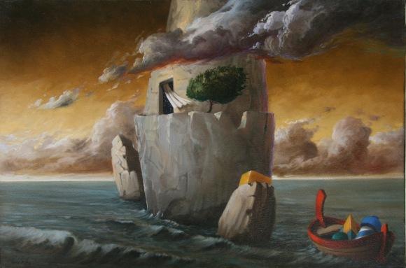 Ciro Palumbo olio su tela a casa del Mistero 40x60  4000
