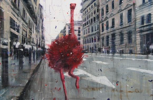 accardi seri 50x70 RED OSTRICH