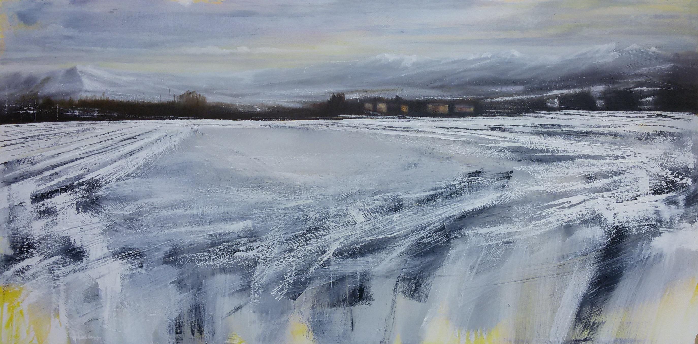 Cimino olio su tela 70x140 winter