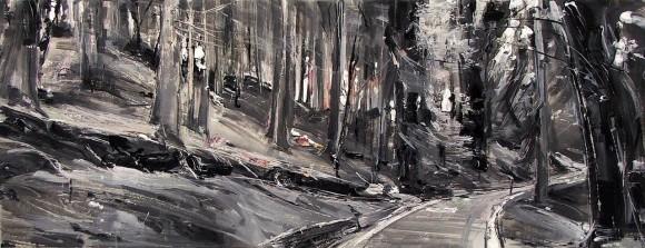 Vanetti Tiziana 119 - 2013 Wild 27 - 50x130 acrilico su tela